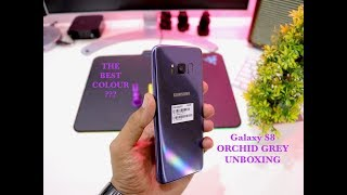 Galaxy S8 Orchid Gray UnBoxing & Initial Impressions