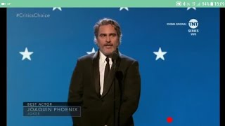 Joaquin Phoenix wins best actor, Critics Choice Awards 2020