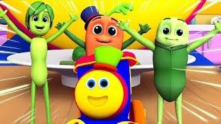 боб поезд шорты Вау Вау овощи образовательные видео коллекция для детей мультфильмы для детей