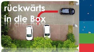 Einparken rückwärts in die Box - Fahrschule