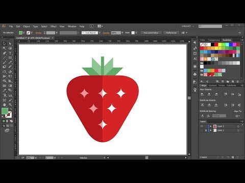 How to Draw a Strawberry in Adobe Illustrator