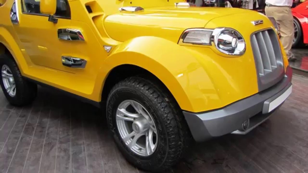 Dc Modified Mahindra Thar In India At Delhi Auto Expo Youtube