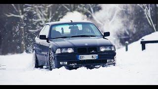 Crazy BMW e36 Snow Drift