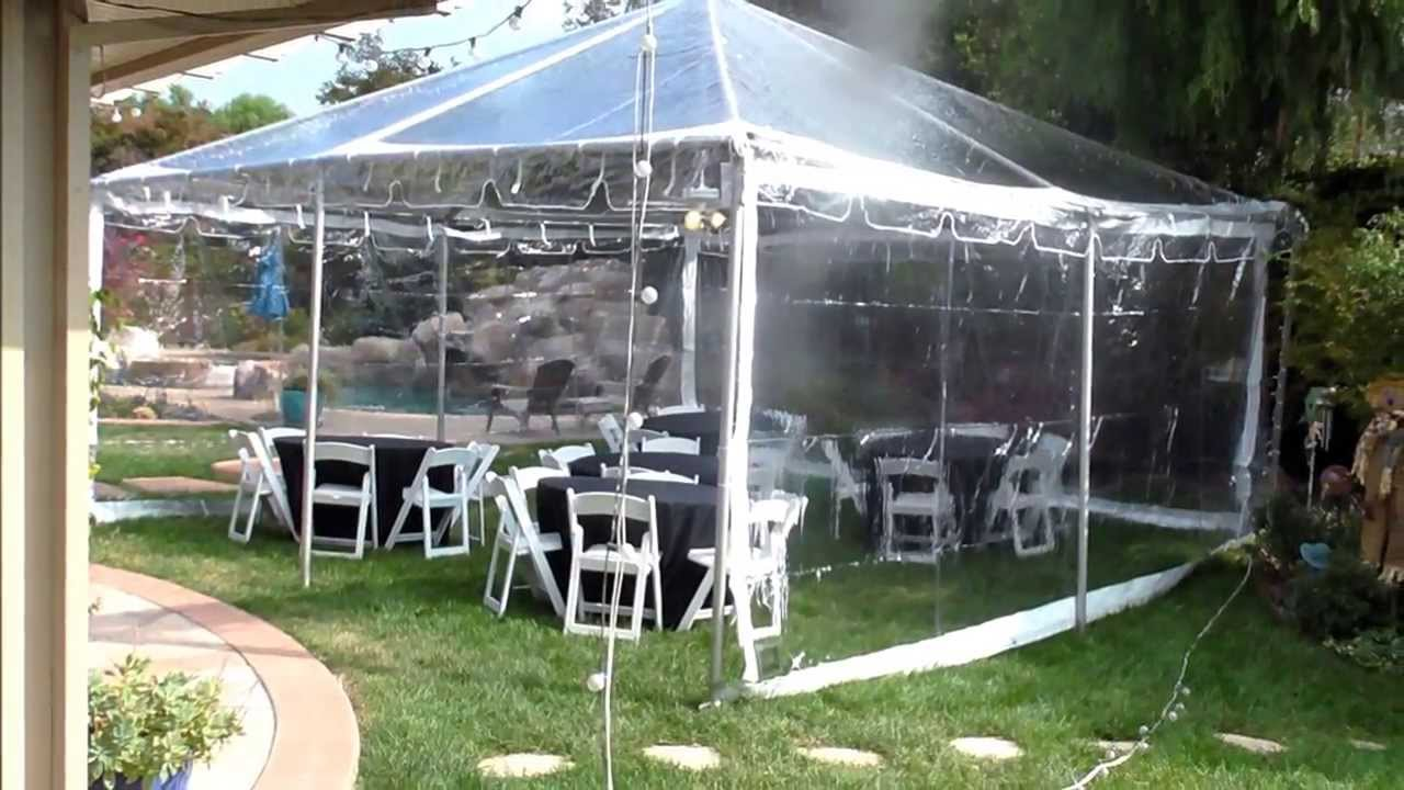 Clear top canopy Evening party tent Party tent Wedding tent - YouTube : homemade wedding tent - memphite.com