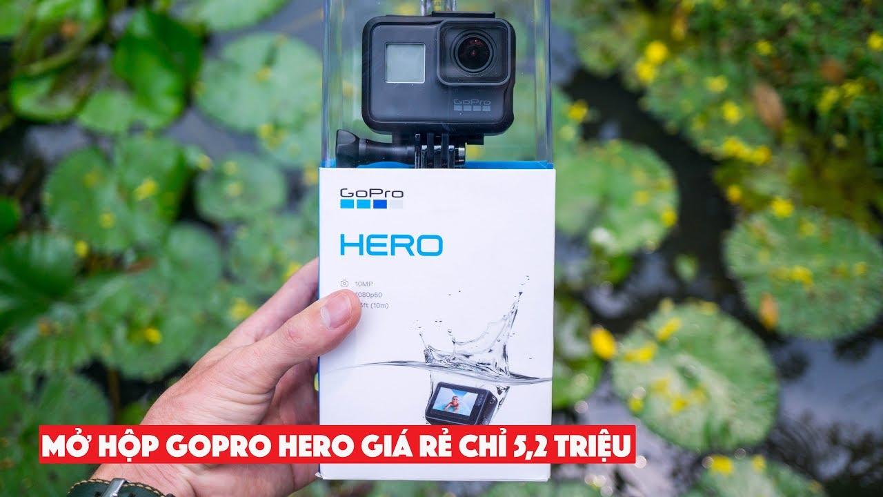 Mở hộp GoPro HERO 2018 giá rẻ 5,2 triệu, video 1440/60fps, giống HERO5 Black  Unbox GoPro HERO