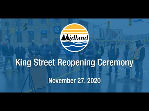 King Street Road Reopening Ceremony - November 27, 2020