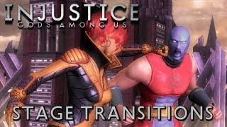 Injustice: Gods Among Us - All Stage Transitions [1080p] TRUE-HD QUALITY