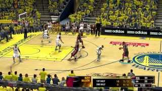 miami heat vs golden state warriors nba 2k13 gameplay 2014 rosters, game 3
