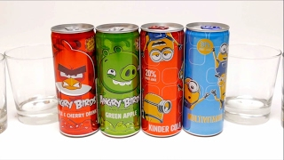 Special Drinks for Kids - Angry Birds & Minions Cans
