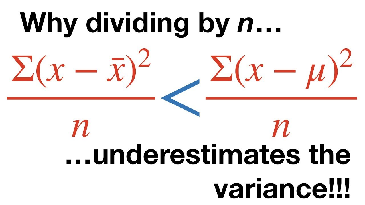 Calculating the Mean, Variance and Standard Deviation, Clearly