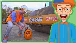 Video Blippi Halloween Song | Crushes Pumpkin with Roller Construction Vehicle download MP3, 3GP, MP4, WEBM, AVI, FLV Januari 2018