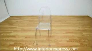 Interiorexpress Ghost Chair - Clear Acrylic Stackable Side Chair