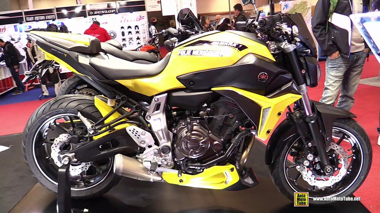 2016 yamaha mt07 fz07 costomized by ermax walkaround 2015 salon moto paris youtube. Black Bedroom Furniture Sets. Home Design Ideas