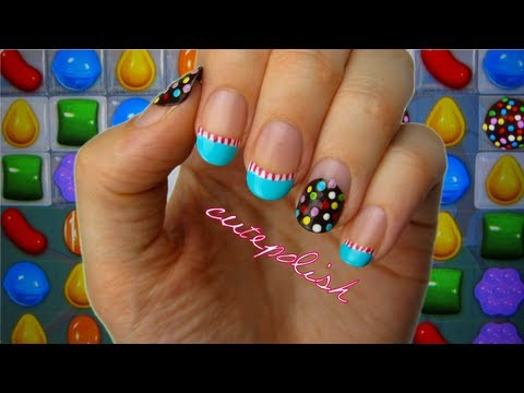 Candy Crush Nail Art - Candy Crush Nail Art - YouTube