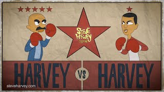 Harvey Vs. Harvey There's only One Heavyweight Champ In My House! | Steve Harvey Stories