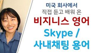 비지니스 영어 | 스카이프 및 사내메신저 용어 | 비지…