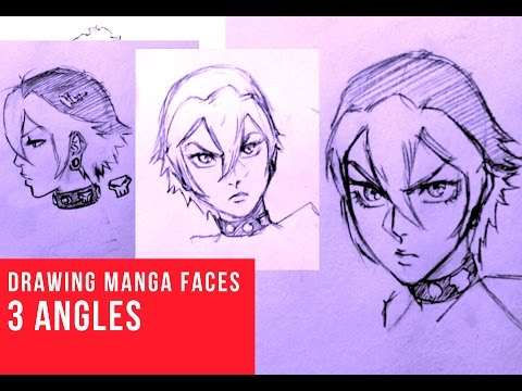 How To Draw Manga Face 3 Different Angles Female