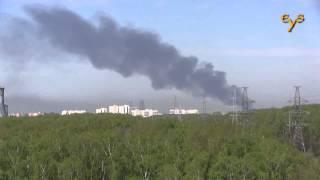 Пожар на ВДНХ в Москве 9 мая 2015 года