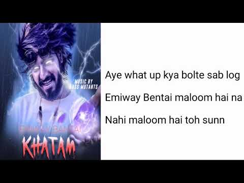 khatam-lyrics-|-eniway-bantai-|-eniway-bantai-reply-to-raftaar