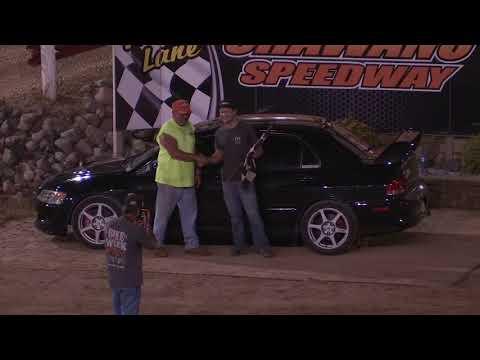 EVO 8 dominates V-8's in Spectator Races - Shawano Speedway
