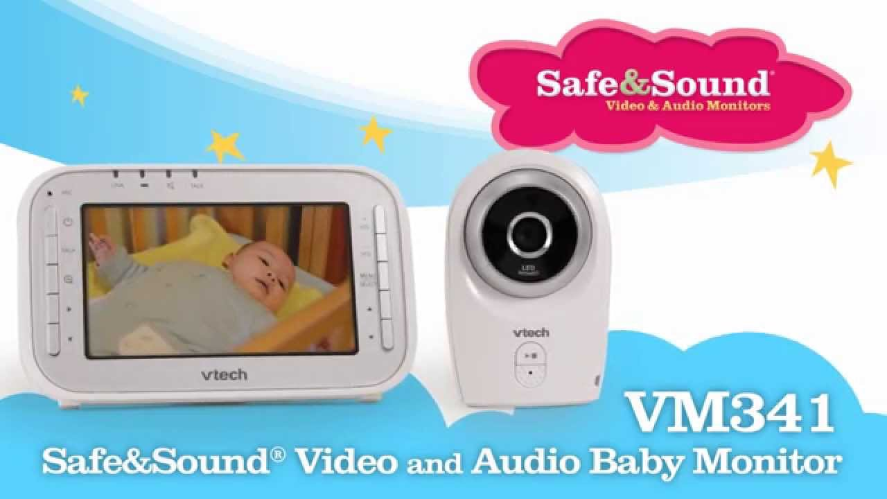 vtech vm341 safe sound video audio baby monitor funnycat tv. Black Bedroom Furniture Sets. Home Design Ideas