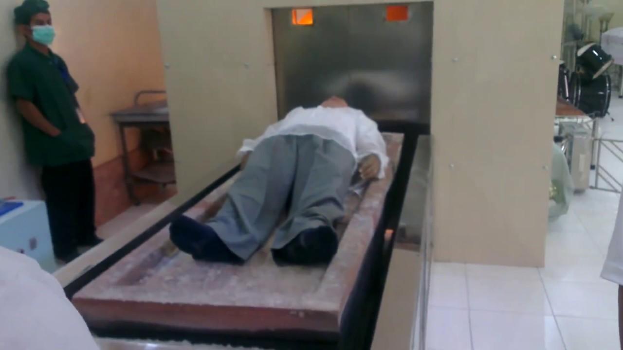 body being prepared for crematorium
