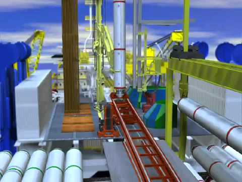 Offshore drilling animation. technics and methods