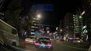 コムテック ドライブレコーダー「ZDR-015」フロントカメラ/夜間の都内にてテスト