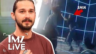 Shia Lebeouf Bust Out Some Dancing At An Art Museum | TMZ Live