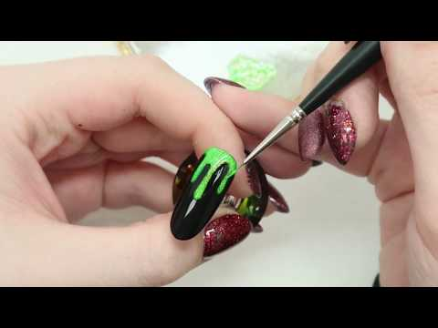 Pretty Glittery Slime? - Magpie Beauty Halloween nail art tutorial thumbnail