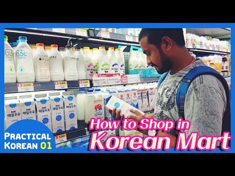 How to Shop in Korean Mart!!   [Practical Korean Ep_01]