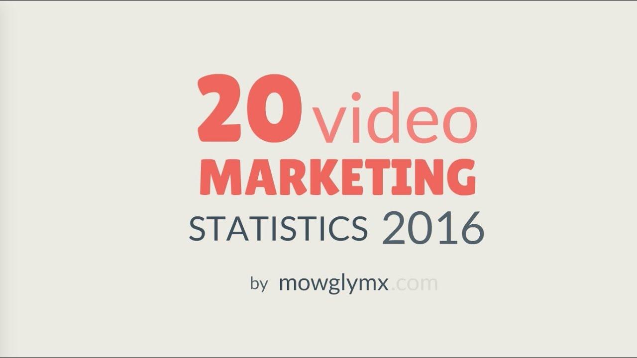 20 Video Marketing Statistics 2016 - Animated Infographics - YouTube