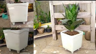 How to Make White Beautiful Pot for Indoor Plant