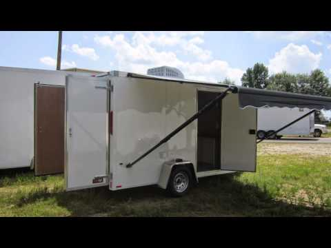National Guard Cargo Trailer With Awning By Trailerlogic