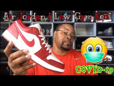 "Air Jordan 1 Low "" Gym Red"" Review #coronavirus #stayhome #lockdown"
