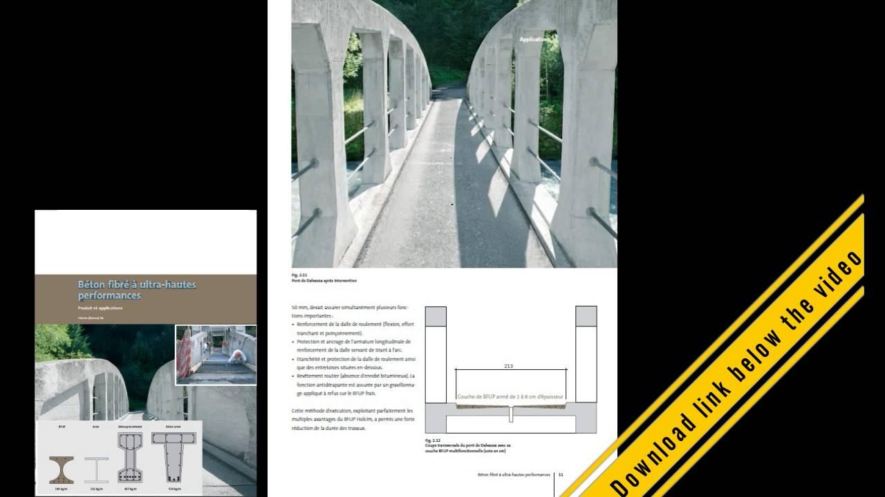 ألياف ملموسة لأداء فائق béton fibré à ultra hautes performances pdf