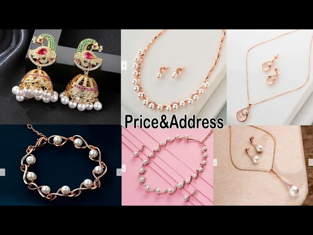 Latest Light Weight Jhumka,Pearl necklace,earrings,bracelets designs with Price | ornaments designs