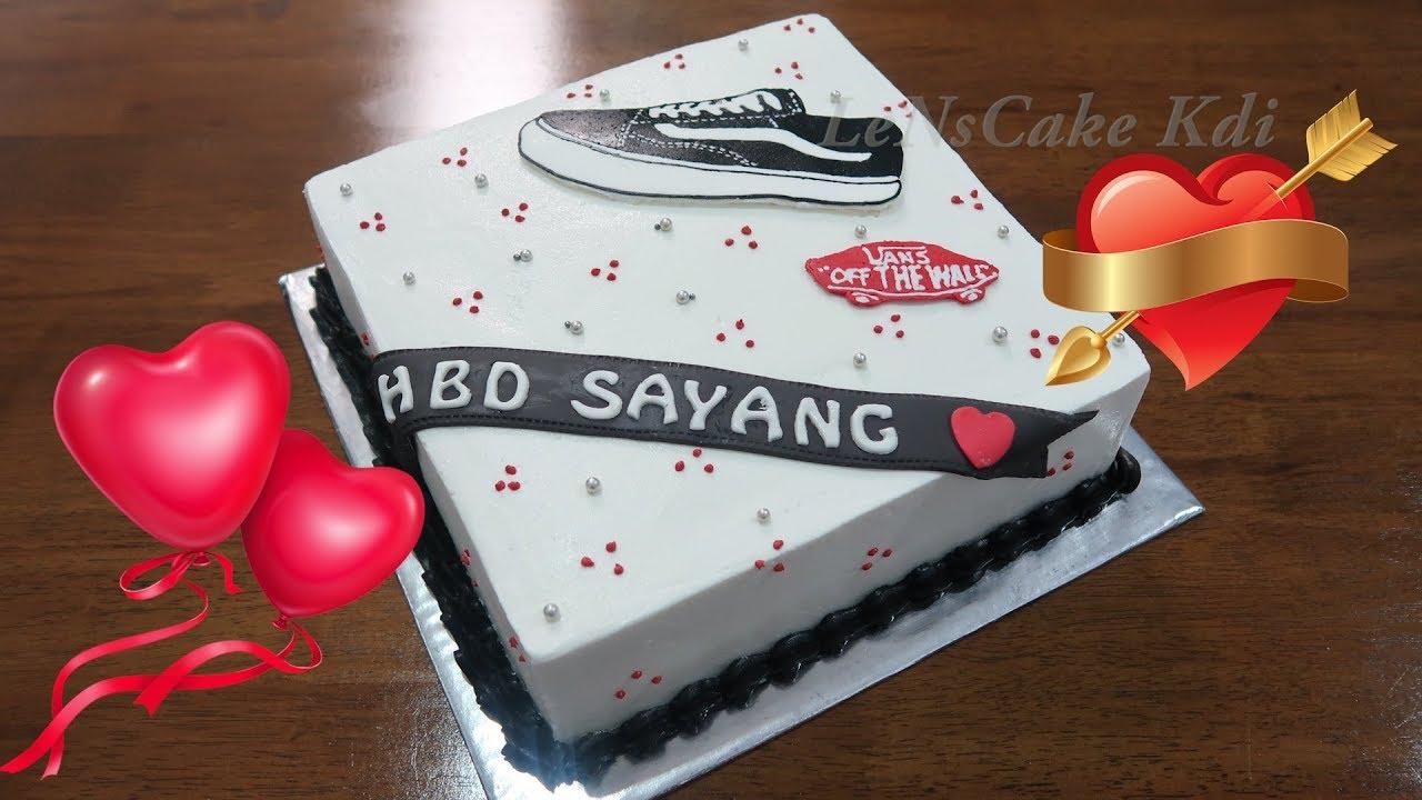 Happy Birthday Cake Simple Shoes