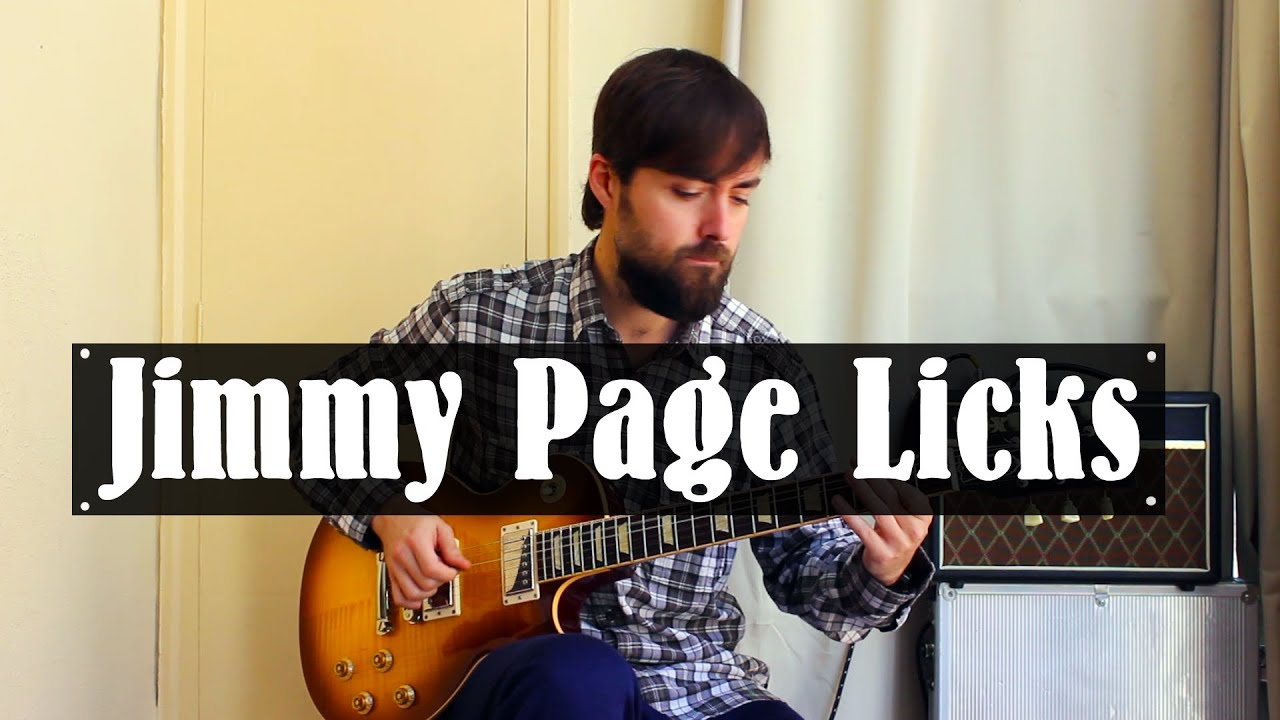 Jimmy Page Led Zeppelin Blues Rock Licks Como Tocar Solos Guitarra