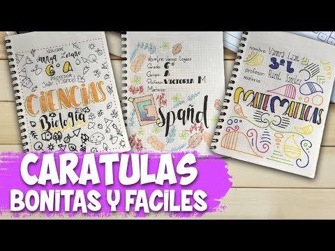Carátulas para cuadernos | Español, Matemáticas y Ciencias ...