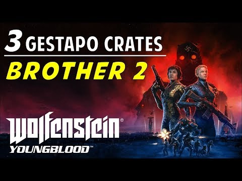 Location & Codes Of All Brother 2 Gestapo Crates | Wolfenstein Youngblood (Red Crates Guide)