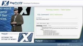 "PayPal X Innovate 2010: Constructing ""SELECT * FROM Internet"" Payment Tools Using..."