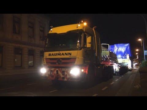 Schwertransport Firma Baumann Von Königswinter über Bonn Nach Köln 15.-17.05.19