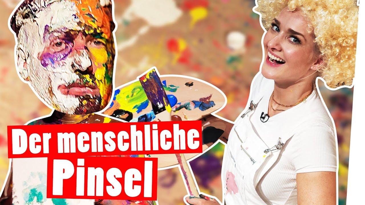 Marc als menschlicher Pinsel: Kunst-Strafe nach Bob Ross || Das schaffst du nie!