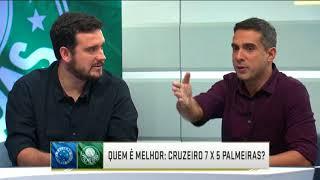 Quem é melhor? Comentaristas comparam jogador por jogador de Cruzeiro e Palmeiras