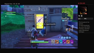 Playing some fortnite and getting the lug axe