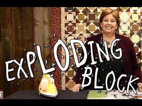 Exploding Block Quilt Quilting Made Easy Youtube