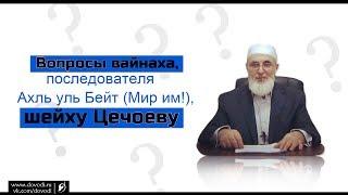 Вопросы вайнаха, последователя Ахл аль Бейт (мир им!) шейху Цечоеву