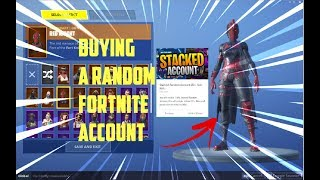 BUYING A RANDOM FORTNITE ACCOUNT!! ( AND GIVEAWAY)
