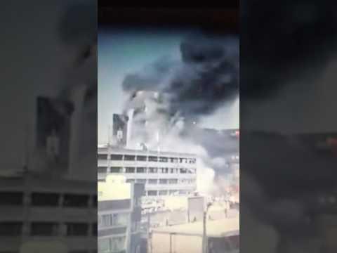 Tehran Plasco Building collapses, Plasco Building on Fire